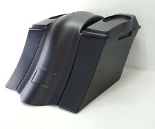 """No Exhaust Saddlebags/ Fender 6x9 #1 Lids Harley Touring 6"""" Bagger 09-13"""