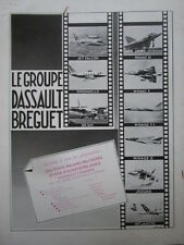 1969 PUB DASSAULT BREGUET MIRAGE FALCON / AIR INDIA FRET AERIEN ORIGINAL AD