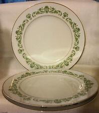 Style House CONTESSA Fine China Japan DINNER Plate White Greenery Yellow Flowers