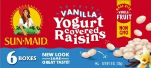 Sun-Maid Vanilla Yogurt Covered Raisins (6-1oz boxes)