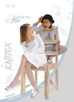 "Girls Tights 20 Denier Soft Shine Bridesmaids Communion Age 6-12 Knittex -""ALA"""