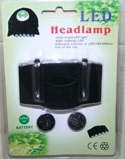 Fishing Hat Cap Brim 5 led torch with batteries N3