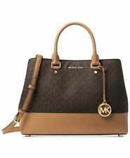 Michael Kors Signature Savannah Large Satch BrownAcornGold 298.00
