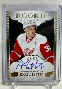 2016-17 Upper Deck Exquisite Collection Rookie Signatures Anthony Mantha 122/225