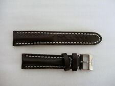 Uhrenband Leder Anstoss 20 mm braun mit Original Breitling Dornschließe *NEU*