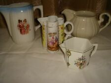 vintage antique ?victorian edwardian milk cream jugs x 4 wedding afternoon tea