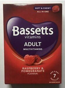 7 x Bassetts Chewy Gummies Adults Multivitamins vitamin A, B2, B6, B12, C, D, E