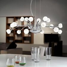Suspension haute qualité lustre verre blanc opale salle de séjour éclairage