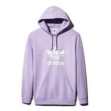 Adidas Originals Para Hombre Trébol Púrpura Sudadera con Capucha Athletic L BHFO 8806