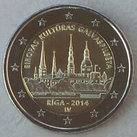 2 Euro Lettland 2014 Kulturhauptstadt Riga unz.