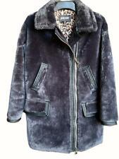 Just Cavalli Coat Faux Fur Steel Grey Jacket 12 UK rrp £410