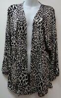 Chicos Travelers Medium Black Cardigan Sweater 3/4 Kimono Sleeve Stretch Women 1