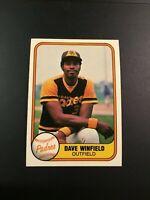 1981 Fleer # 484 DAVE WINFIELD San Diego Padres Great Card Look !