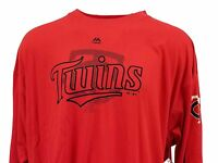 Minnesota Twins Majestic MLB Red Long Sleeve T-Shirt, Men's Big & Tall, nwt