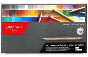 Caran d'Ache Luminance 6901 Professional Colour Pencils 76 Colours & 2 Blenders