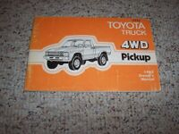 1982 Toyota 4WD Pickup Truck Factory Original Owners Owner's User Manual Book