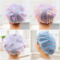 Elastic Waterproof Shower Cap Hat Reusable Bath Head Salon Shower Cap Hair Cover