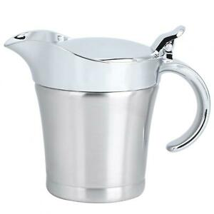 304 Stainless Steel Double Layer Insulation Flavor Sauce Pot Gravy Boat Serving