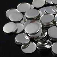 100pcs 25mm Round Button Badge Plain Metal Plate Pin Badge Maker Part Components