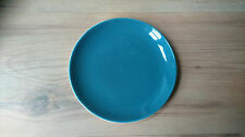 Vintage 1960s Poole Pottery Twintone Tea Plate Teal White Blue Moon VGC