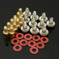 10x 6.5mm Brass Standoff 6-32-M3 PC Case Motherboard Riser+Screws + Washers