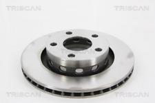 2x Bremsscheibe TRISCAN 8120291024 hinten für AUDI VW