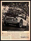1962 Standard Triumph TR-4 Convertible 105 HP 110 MPH Top Speed Vintage Print Ad