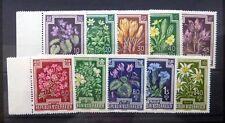 AUSTRIA 1948 Flowers Complete SG1098/1107 U/M NF390