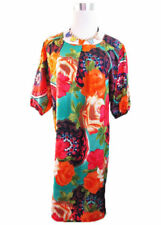 Plus Size Chiffon Crew Neck Floral Dresses for Women