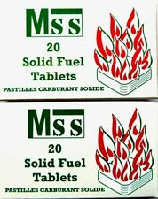SOLID FUEL TABLETS for MAMOD STEAM ENGINES by MSS  (RECTANGULAR SHAPE x 40)