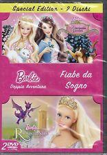 2 Dvd Box BARBIE FIABE DA SOGNO ♥ LA PRINCIPESSA E LA POVERA + RAPERONZOLO nuovo