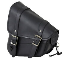 BLACK LEFT SIDE MOTORCYCLE SOLO SWING ARM BAG HARLEY SOFTAIL FATBOY & More