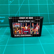 Streets of Rage Super 3 in 1 Retro Game 16 bit for Sega Genesis Mega Drive NTSC