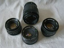 Lot of 4 Used Camera Lenses Yashica 50mm, Rexagon 28mm, Tamron See photos 181708