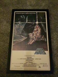 Starwars A New Hope Original Framed Film Poster. Framed 54 x 34cm