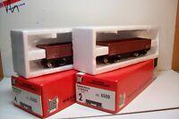 WAGONS TRAIN HO : LOT 2 TOMBEREAUX SUR BOGIES de JOUEF OCCAS (en boite 6500)