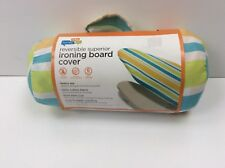 New Honey Can Do Reversible Superior Ironing Board Cover Blue/Green Stripes