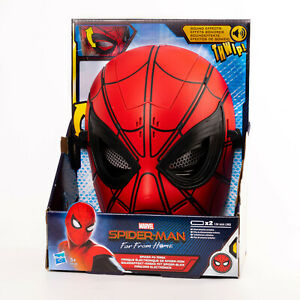 Hasbro E6506 Marvel Spider-Man Far from Home Soundeffekt-Maske mit Spider Blick