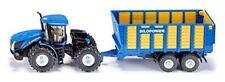 Modellini statici di mezzi agricoli rimorchio blu in plastica