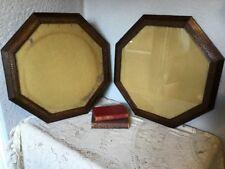 Beautiful Edwardian Hexagonal Oak Picture Frame-Glazed-2 available #4637
