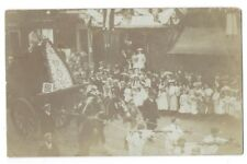 ROCHDALE Rushcart, Street Procession, RP Postcard c1906, Unposted