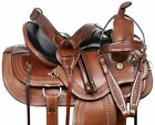 HORSE SADDLE WESTERN TRAIL GAITED COMFY ENDURANCE LEATHER TACK SET 16