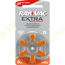 12  RAYOVAC 13 DA13 A13 ORANGE Hearing Aid Batteries  ZA13 13au AC13E ME8Z L13ZA