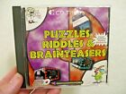 Puzzles Riddles & Brainteasers! Cd Titles 1996 Pc Game Cd Rom Computer Game Look
