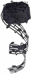 10 Yards 30mm Polyester Hollow Cut Out Music Note Ribbon Clothing Trim Accessory
