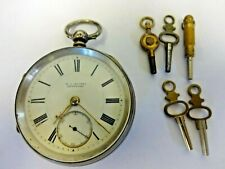 vintage w.c hughes bethesda doctor's dial pocket watch with winders