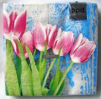 5 Stück Servietten Lavendel Blumentöpfe Vase Herz 1//2 Serviettentechnik Tulpen