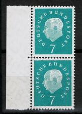 BRD Heuss III Mi. - Nr. 302 postfrisch senkrechtes Paar mit Seitenrand links