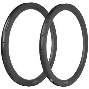 50mm Carbon Rims 23mm Clincher Road Bike Carbon Rims 18/20/21/24/28/32/36 Holes