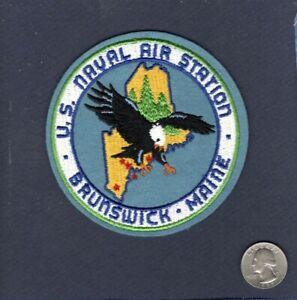 Original Early NAS Naval Air Station BRUNSWICK US NAVY Felt Base Squadron Patch